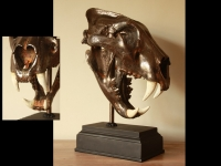 Lion skull gun-metal rusted